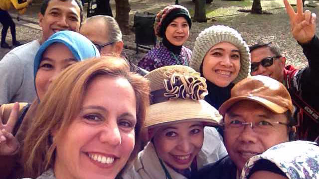 Indonesian friends Buanna Agency visiting cordoba with Maria